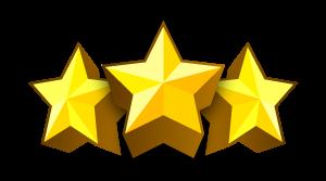 Ratsmitglieder werden mit drei Sternen dargestellt.